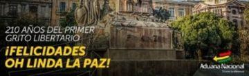 Polémica por salutaciones a La Paz y el Primer Grito Libertario