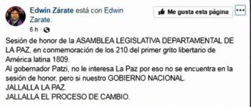 En La Paz aún se arrogan el Primer Grito Libertario