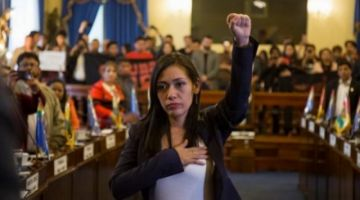 Adriana Salvatierra presidirá el país hasta el retorno de Morales