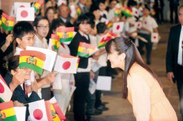 Princesa Mako se  reúne con colonias migrantes niponas