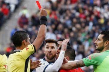 Messi es suspendido un partido por la tarjeta roja en la Copa América