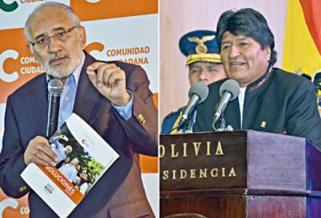 Campaña: Mesa investigará al MAS y Morales defiende extractivismo