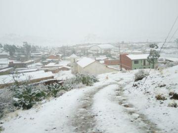 Nieve congela a municipios de Chuquisaca
