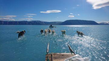 Ola de calor amenaza con dejar capa de hielo de Groenlandia en niveles mínimos