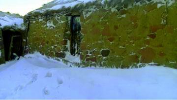Comunidades aisladas  y ganado bajo nieve en el occidente
