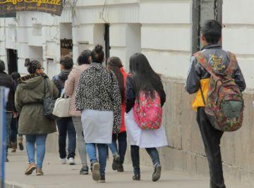 Chuquisaca: Colegiales vuelven este lunes a clases con el horario de invierno