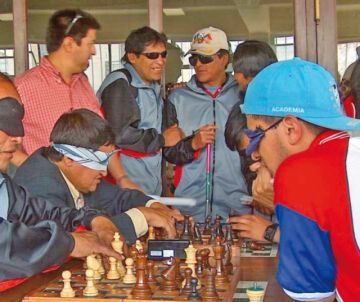 En Chuquisaca se practican  seis disciplinas para ciegos