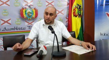 Diputado Poppe informa que el alcalde de Villa Abecia renunció a su cargo