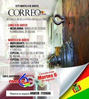 CORREO DEL SUR celebra el 6 de Agosto con regalos y entregas especiales