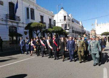 Sucre, donde nació Bolivia, rinde homenaje a la Patria