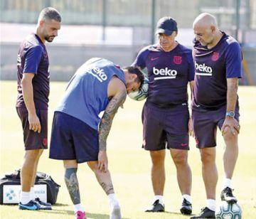 El Barça viaja a Estados Unidos  sin Messi por lesión