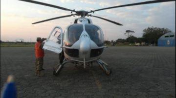 Defensa Civil interviene por aire incendio forestal en Chiquitanía