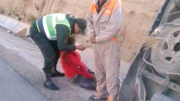 Candidata a la presidencia por Pan-Bol sufre aparatoso accidente