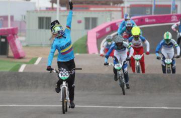 Pajón demuestra  su nivel olímpico en el BMX de Lima
