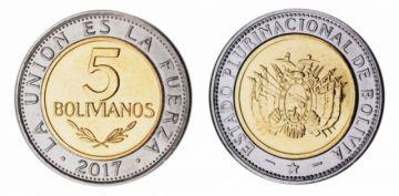 ¿Cómo detectar monedas falsas de Bs 5?