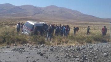 Al menos 11 muertos y un herido en un accidente en carretera Oruro-Potosí