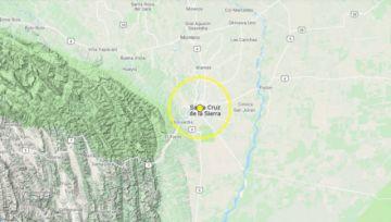 Sismo de 3,5 grados se registra en el centro de Santa Cruz