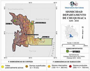 Chuquisaca, epicentro de 5 sismos en un año