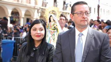 Binomio Ortiz-Franco se encomienda a la Virgen de Urkupiña