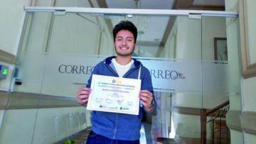 Mauricio Díaz, estudiante sucrense que conquistó la Olimpiada en China