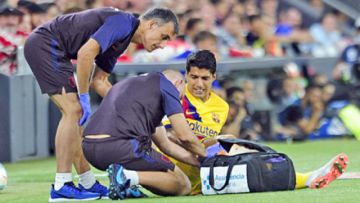 Suárez es baja en el Barça