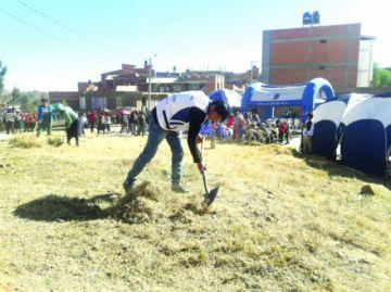 Barrios alejados se benefician con la limpieza conjunta
