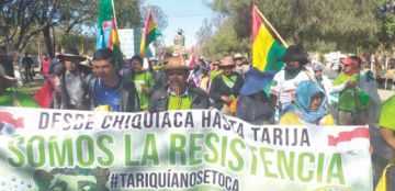 Tariquía: Marcha reivindicativa llega a capital chapaca