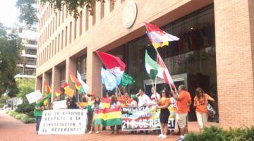 Residentes protestan en puertas de OEA