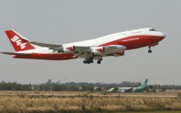 El avión Supertanker ya sobrevuela la zona afectada de la Chiquitanía