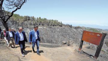 El fuego pierde fuerza en Gran Canaria