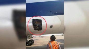 Avión de BoA sufre nuevo percance y pierde parte de su fuselaje