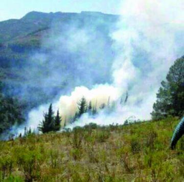 Incendio en Villa Serrano
