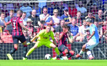 Agüero anota un doblete y fulmina al Bournemouth