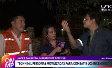 """Voluntarios a Ministro: """"No puede ser que nos estemos quemando y vos digas 'no pasa nada'"""""""