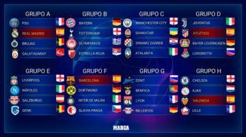 Atlético repite con Juventus; Barça con Inter y Real Madrid coincide con PSG