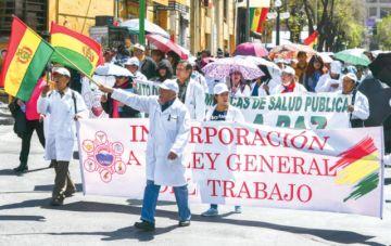 Médicos a Evo: No vamos a levantar nuestra lucha
