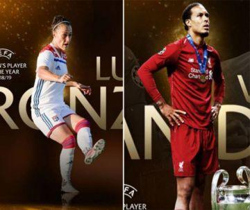Virgil van Dijk y Lucy Bronze, los mejores jugadores de la UEFA