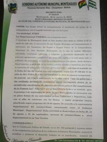 Monteagudo traslada el Día del Peatón para el domingo 8 de septiembre