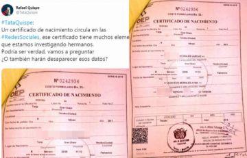 Diputado Quispe asegura que verificó en Registro Civil que Evo aparece como padre de una niña