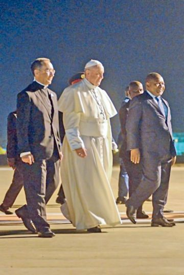 El Papa comienza en Mozambique su gira africana