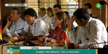 Evo insta a un trabajo conjunto y urgente por la Amazonía
