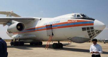 Llega avión ruso Ilyushin para reforzar lucha contra el fuego en la Chiquitanía
