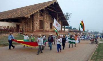 Marcha indígena llega a San Miguel de Velasco