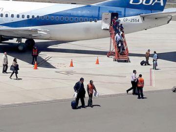 Mantenimiento de la pista  de El Alto retrasó un vuelo
