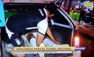 Polémica e indignación por traslado de futbolista en el maletero de un taxi