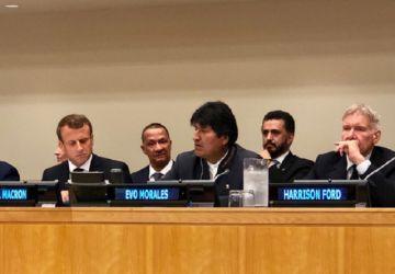Evo habla de la Chiquitanía en foro previo a la Asamblea de la ONU