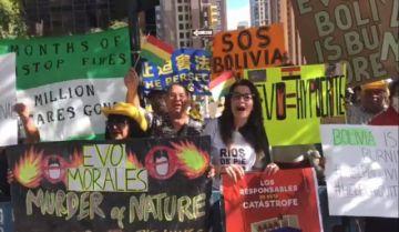 Bolivianos en la ONU piden a Evo que declare desastre nacional por incendios