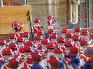 Una exhibición de Playmobil  para la historia