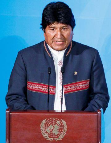 """Evo en la ONU: """"Estamos  ganando la batalla al fuego"""""""