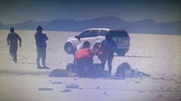 Accidente de tránsito en el Salar de Uyuni deja nueve heridos
